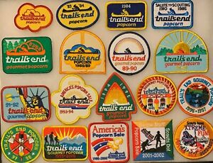 Lot of 18- Trails End Popcorn Pocket Patches 1983 through 2003
