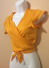 SHEIN- Blusa de verano color amarilla para jovencita, talla S.(4)