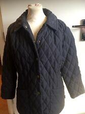 Barbour Black L16 Shaped Microfibre Quilt Short Jacket  - coat size UK 12