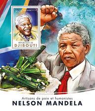 Djibouti 2016 MNH Nelson Mandela 4v M/S Minerals Elbaite Albite Stamps