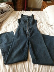 JLo  collection  denim jumpsuit , 70s style