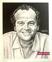 Bradford John Salamon Rare Jack Nicholson Sketch 1991 Vintage Art Poster Print 2