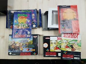 4 Leerverpackung Snes Ovp und Extra Nintendo SNES