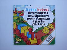 Catalogue ancien jouets jeux de construction Fischertechnik Fischer 1980's