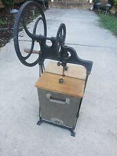 Antique 1919 Dazey Butter Churn wood handle crank cast iron mechanism 380B