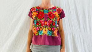 Oaxaca Tehuana Huipil. Frida Kahlo Bluse. Mexiko Vintage. Selten