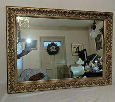 "Vintage Wood Frame Gold Gild Mirror 30"" by 22"""