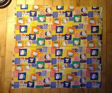 """CLASSIC Hello Kitty """"Patchwork"""" Fabric Material Bows Bears 21 1/2"""" by 20"""""""
