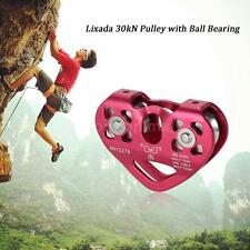 30kN Aluminum Zip Line Cable Trolley Fast Speed Climbing Pulley Rock TM R6K5