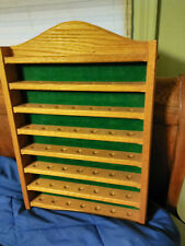 49 Golf Ball Display Case Rack Made Of Real Heavy Oak New Never Hung Felt Back