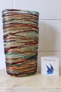 Vaso / Vase in glass / vetro di Murano Made in Murano firmato Sergio Costantini