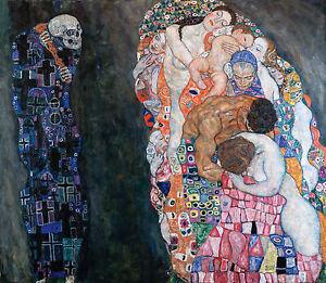 Gustav Klimt, Death and Life 1911, Fade Resistant HD Art Print or Canvas