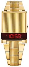 Men's Bulova Computron LED Digital Gold-Tone Watch with Rectangular Dial 97C110