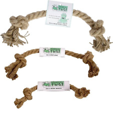 Hemp Natural Dog Rope Toy - Tug and Fetch Toy SM, MED, LG, XL