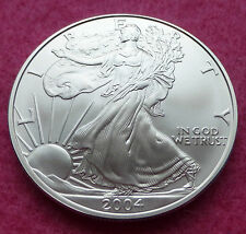 2004 SILVER EAGLE WALKING LIBERTY ONE DOLLAR 1oz BRILLIANT UNCIRCULATED COIN
