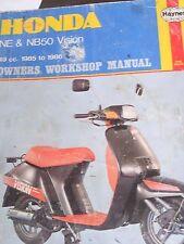 HONDA NE50 M / NB50 M VISION MANUAL  1985 TO 86