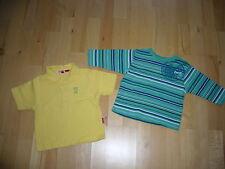 ESPRIT baby Kleiderpaket T-Shirt Gr. 80 grün + Polo-Shirt Gr. 74 gelb kurzarm