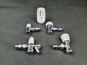 Pegler Bulldog 15mm Angled TRV Valve Body Lockshield Drainoff Head Sensor Spares