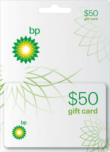 BP Gas - $50 Gift Card Use in Store or at the Pump. Physical Card Shipped