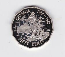 1988 50 cent First Fleet Bicentenary Ship Proof Coin Australia out of a Set