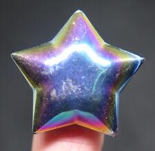 30mm 0.5OZ Titanium Specimen Quartz Crystal Carving Art Star