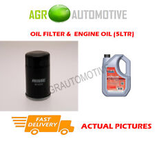 PETROL OIL FILTER + FS 5W40 ENGINE OIL FOR NISSAN MICRA 1.3 82 BHP 2000-03