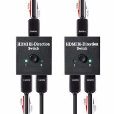 2-Port HDMI Bi-directional 2x1 Switch Switcher & 1x2 Splitter Selector 3D 4K