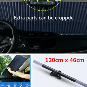 Retractable Car Windshield Visor Cover Front Rear Window Sunscreen Shade Folding
