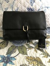 Trent Nathan Black Crossbody Bag Leather New With Tags