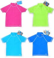 Swim Shirt Tee Rash Guard Vest Short Sleeve Cover-Up Swimsuit Kid Teen UV P 50+