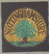 NOTTINGHAMSHIRE SCOUTS CLOTH BADGE MINT VINTAGE size approx 50mm x 50mm