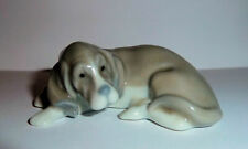 Lladro Figurines Collectibles Miniature Dog Reclining