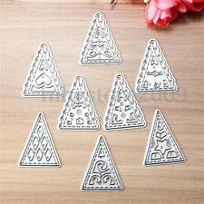 8Pcs Christmas Tree Metal Cutting Dies Stencil Scrapbook Album Paper Card Craft