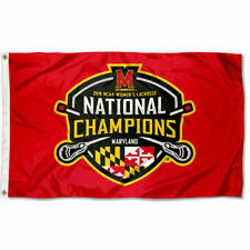 Maryland Terrapins 2019 Womens Lacrosse National Champions Flag Large 3x5