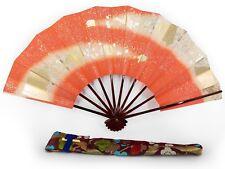 Vintage Japanese Geisha Odori 'Maiogi' FoldingDanceFan Brocade Case: Jan 19-H
