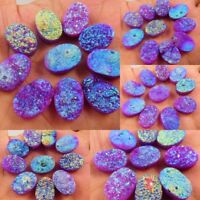 Natural Dyed Oval Rainbow Flashy Purple Durzy Agate Cabochon Gemstone AG791-824