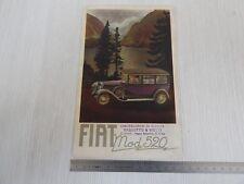 Depliant brochure originale Fiat 520 anno 1928 vassotto e Viotti Torino