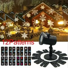 12 Patterns Outdoor LED Lights Moving Laser Projector Landscape Christmas Party