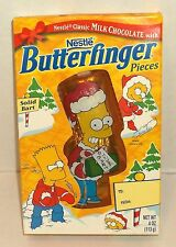 1999 THE SIMPSONS Nestle BUTTERFINGER solid CHOCOLATE BART mint in box MISB