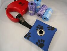 * PAW PRINT- DOG POO/ POOP/POOH BAG HOLDER/ DISPENSER- FOR FLEXI & STRETCH LEADS