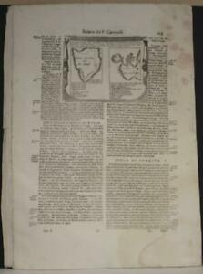 SRI LANKA & SUMATRA 1690 CORONELLI UNUSUAL ANTIQUE ORIGINAL COPPER ENGRAVED MAP