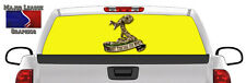 HD Gadsden Flag Dont Tread On Me BACK Window Graphic Perforated Decal Truck SUV