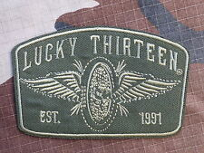 ECUSSON PATCH THERMOCOLLANT toppa aufnaher LUCKY 13 THIRTEEN hot rod biker trike