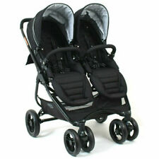 Valco Baby N9691 Snap Ultra Duo Twin Foldable Pram - Coal Black