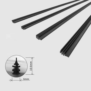 2PCS 26 inch Car Bus Silicone Universal Frameless Windshield Wiper Blade Refill