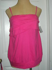 LANE BRYANT sz 14 Pink Ruffled Camisole/Tube Top Removable Straps (14W 0X 1X)