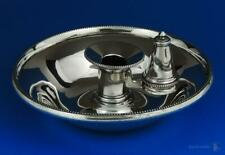 VICTORIAN SILVER PLATE CHAMBER CANDLESTICK Late 19th Century WALKER & HALL