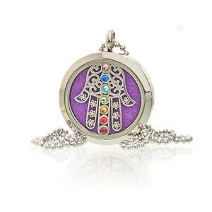 Aromatherapy Jewellery Chain Necklace - Hamsa Chakra 30mm