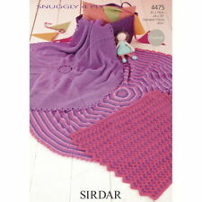 Sirdar Pattern 1369 to knit four lovely baby blankets In four ply yarn.