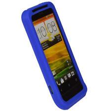 Étuis, housses et coques bleu en silicone, caoutchouc, gel pour téléphone mobile et assistant personnel (PDA) HTC